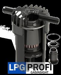 Filtr plynné fáze odstředivý, vstup a výstup 12mm, vyměnitelná vložka